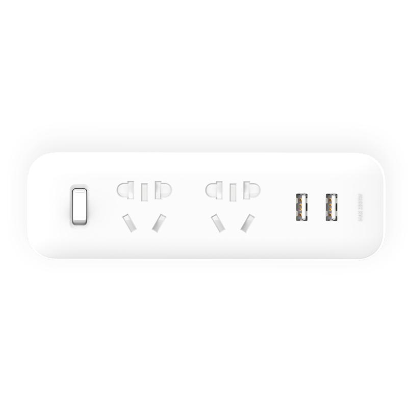 Mi 2 Way Socket Adapter USB 2A Fast Charge