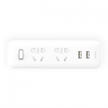 Mi 2 Way Socket Adapter USB 2A Fast Charge